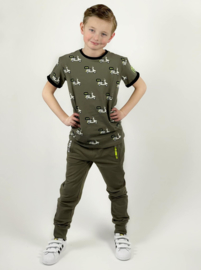 BChill-Boy's Jogpants Long Adam -Olive green
