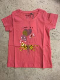 Blue Seven-Kids Girls knitted T-Shirt-Light red