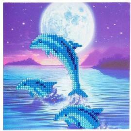 Craft Buddy- Card Kits-Diamond Painting Dolfijnen - Multi Color