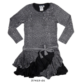 Girls Happy Dress- LoFff- Grey