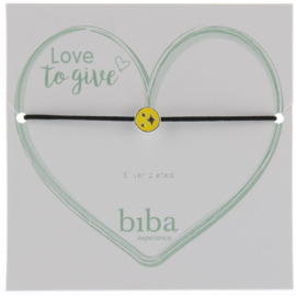 Armband met bedel- Biba- yellow silver