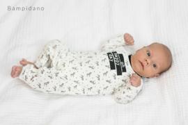 New Born Unisex overall allover print-Bampidano-Black AO