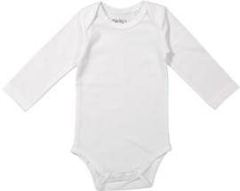 Unisex Baby romper l.m.- Dirkje- White