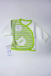 Baby Uni pre T shirt l/s-Ducky beau-Light green stripe-White