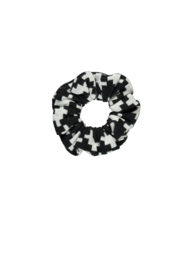 Girls Kids puzzle jaquard scrunchy -B.Nosy-Maxi star-white puzzle