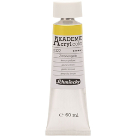Acryl color-lemon yellow (222)-semi-transparent, good fade resistant, 60ml-