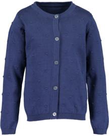Blue Seven-Kids Girls knitted cardigan-DK Blue