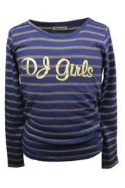 Girls Shirt Stripe gold- DJ Dutch jeans- Blue