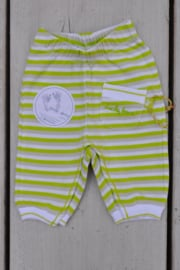 Baby Uni pre Pants-Ducky Beau-light green-white
