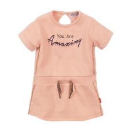 Dirkje-Girls Dress ss-Peach