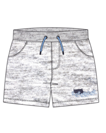 Mini boys knitted sweat shorts-WHALE DIVE-Blue Seven-Fog