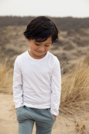 Koko Noko-Boys Nate Tshirt ls Bio Cotton-White