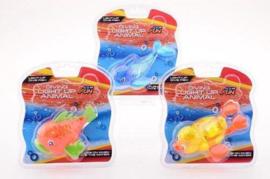 C.W. Aqua fun zwemdieren met licht 3 assorti