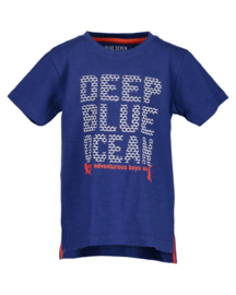 Boys knitted T-shirt-Blue Seven-Royal