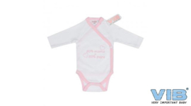 VIB-Girls Romper 50% mama + 50% papa-White-Rose
