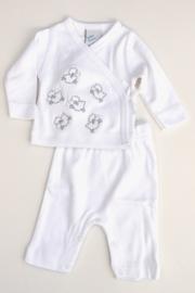 Baby Unisex pre 2-pce Babysuit Sheep- LPC-White