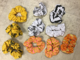 Girls Set Scrunchies - Lovestation22-Summer Yellow / Peach assortie