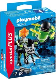 C.W. -Playmobil Special Plus- Agent met Drone 70248-Multi Color