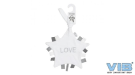 Tutteldoekje LOVE-VIB-Grey-White