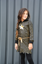 Girls  Dress Goldstar- LoveStation22- Black - Gold