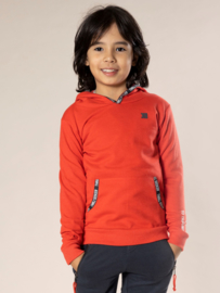 DJ Dutch Jeans-Boys Sweater ls with hood-Red