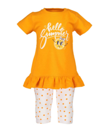 Blue Seven-Mini Girls knitted 2-pcs set:- Orange orig