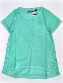 Girls T-Shirt Lace- Blue Seven- Green