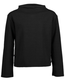 Blue Seven-Girls knitted pullover-Black