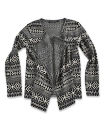 Girls Cardigan- Blue Seven- Black white