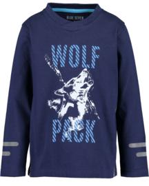 Blue Seven-Kids Boys knitted T-shirt-Night Blue orig