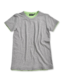 Boys T-Shirt V hals- Blue Seven- grey