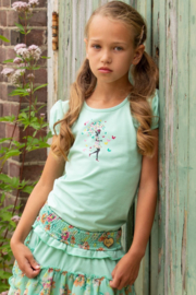 LoFff- Girls T-Shirt Puffy Sleeve -Mint