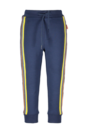 Bampidano-Junior Boys sweat trousers Didier with striped tapes + waistcord PLAY-Indigo