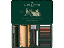 Pitt Monochrome set Faber Castell 33-delig groot