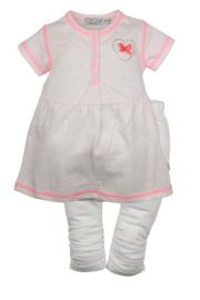 2pce Babysuit dress- Dirkje- roze
