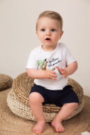 Dirkje-Baby Boys T-shirt ss -White