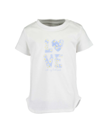 Mini girls knitted shirt-HELLO SPRING  -Blue Seven-White orig