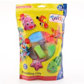 Twizz Boetseerklei 24 kleuren multi-pack-C-Diverse kleuren