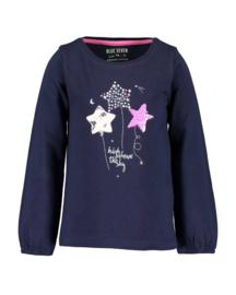 Blue Seven-Kids Girls knitted T-shirt-Night Blue orig