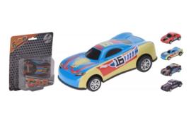 C.W.-Auto 10 cm metaal en plastic- multi color