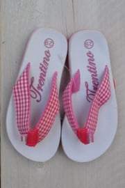 Girls Flip flop with pink and white-Libaco- wit-maat 32