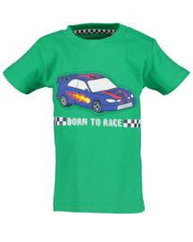 Blue Seven-Mini Boys knitted shirt-Green orig