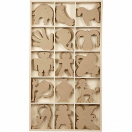 Wooden ornaments, size 12 cm, MDF