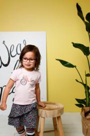 Bampidano-Junior Girls short sleeve T-shirt Dionne plain with print NATURE-Light Pink