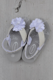Girls Flip-flops with flower -Libaco-wit-maat 21t/m24