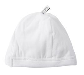 Unisex Newborn Cap-Beebielove-White