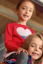 Blue Seven-Kids Girls knitted pullover-Lt Red orig