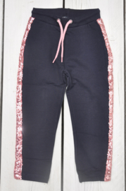Kids girls knitted sweat trouser -Blue Seven-Night blue