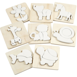 Jigsaw puzzle, size 15x15 cm, thickness 19 mm, triplex