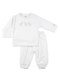 Baby Unisex pre 2-pce Babysuit Giraffe-Dirkje-White